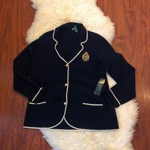 NWT Lauren Ralph Lauren 2x Sweater Blazer w/ flaw